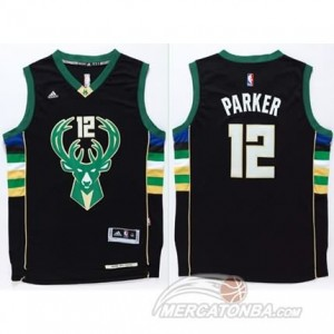 Canotte Parker,Milwaukee Bucks Nero