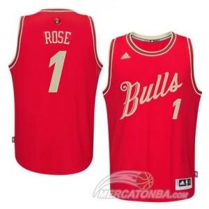 Canotte Rose Christmas,Chicago Bulls Rosso