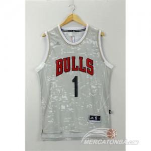Canotte NBA Luces Bulls Rose Grigio