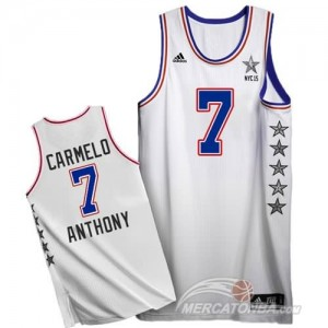 Canotte NBA Carmelo,All Star 2015 Bianco