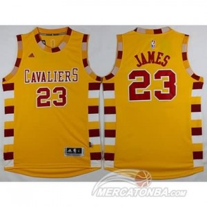 Canotte James,Cleveland Cavaliers Giallo