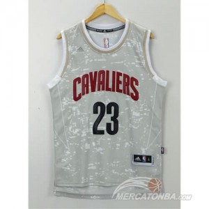 Canotte NBA Luces Cavaliers James Grigio