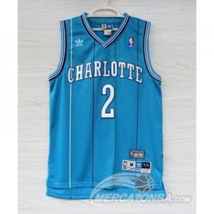 Canotte Retro Charlotte Johnson,New Orleans Hornets Blu