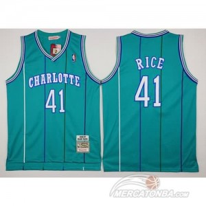 Canotte Charlotte Rice,New Orleans Hornets Verde