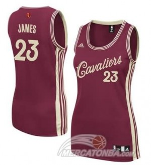Canotte Donna James Christmas,Cleveland Cavaliers Rosso