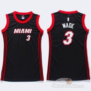 Canotte Donna Wade,Miami Heats Nero