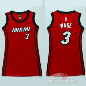 Canotte Donna Wade,Miami Heats Rosso