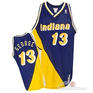 Canotte George,Indiana Pacers Blu