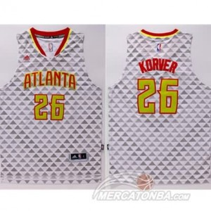 Canotte Korver,Atlanta Hawks Bianco