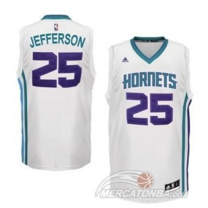 Canotte Hornets Jefferson,New Orleans Hornets Bianco