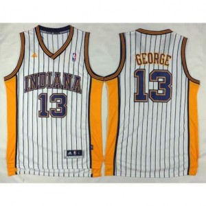 Canotte Indiana George,Indiana Pacers Bianco