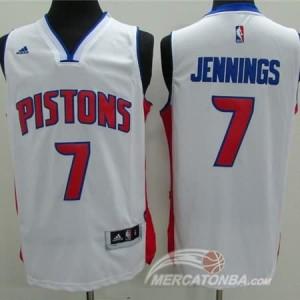 Canotte Jennings,Detroit Pistons Bianco