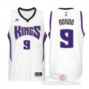 Canotte Rondo,Sacramento Kings Bianco