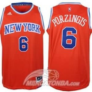 Canotte Porzingis,New York Knicks Arancione