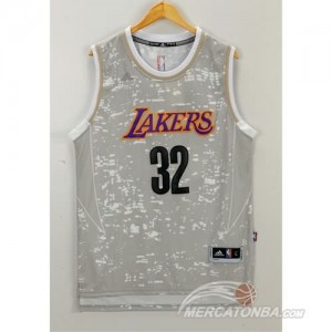 Canotte NBA Luces Lakers Johnson Grigio