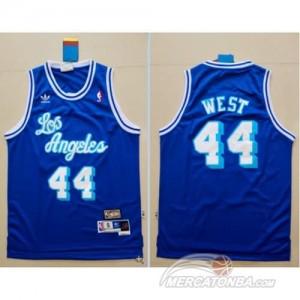 Canotte Retro West,Los Angeles Lakers Blauw