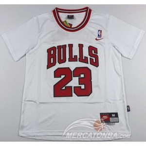 Canotte NBA Manga Corta Bull Jordan Bianco 2016