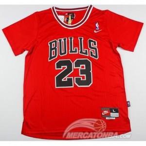Canotte NBA Manga Corta Bull Jordan Rosso 2016