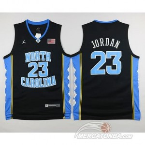 Canotte NCAA North Carolina Jordan Nero