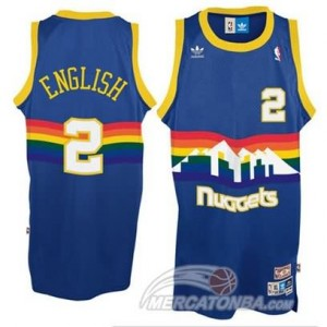 Canotte English,Denver Nuggets Blauw
