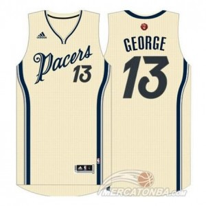Canotte George Christmas,Indiana Pacers Bianco