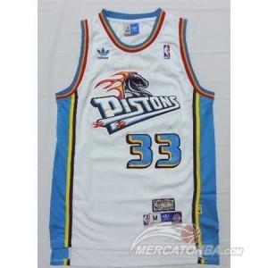 Canotte Hill,Detroit Pistons Pistons Bianco