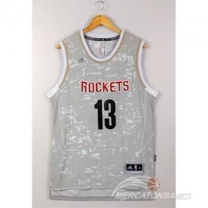Canotte NBA Luces Rockets Harden Grigio