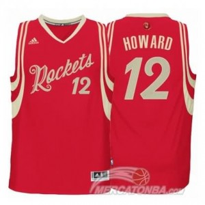 Canotte Howard Christmas,Houston Rockets Rosso