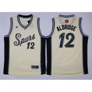 Canotte Aldridge Christmas,San Antonio Spurs Bianco