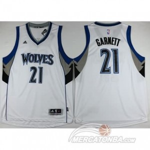 Canotte Garnett,Minnesota Timberwolves Bianco
