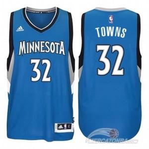 Canotte Towns,Minnesota Timberwolves Blu