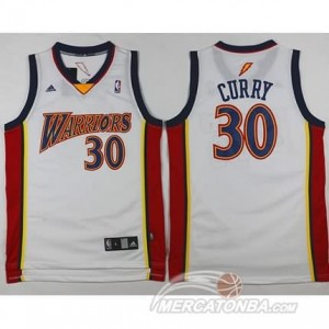 Canotte Retro Curry,Golden State Warriors Bianco