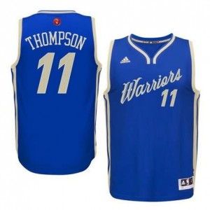 Canotte Thompson Christmas,Golden State Warriors Blauw