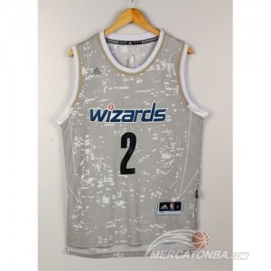 Canotte NBA Luces Wizards Wall Grigio