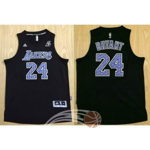 Canotte NBA Camouflage Bryant Lakers Nero