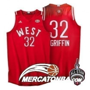 Canotte NBA Griffin,All Star 2016 Rosso