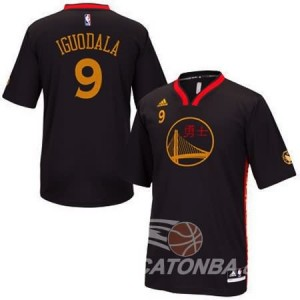 Canotte NBA Manga Corta Warriors Iguodala Nero
