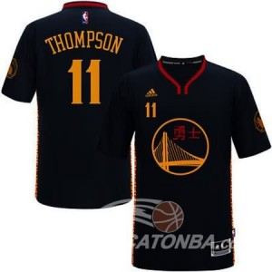 Canotte NBA Manga Corta Warriors Thompson Nero