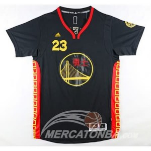 Canotte NBA Manga Corta Warriors Green Nero