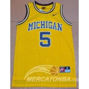 Canotte NCAA Michigan Rose Giallo