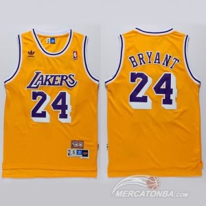 Canotte retro Bryant,Los Angeles Lakers Giallo