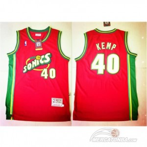 Canotte retro Kemp,Seattle Sonics Rosso