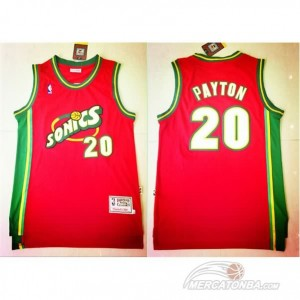 Canotte retro Payton,Seattle Sonics Rosso